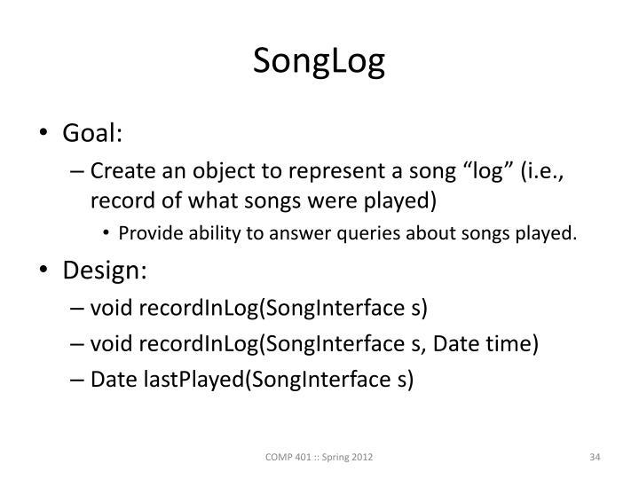 SongLog