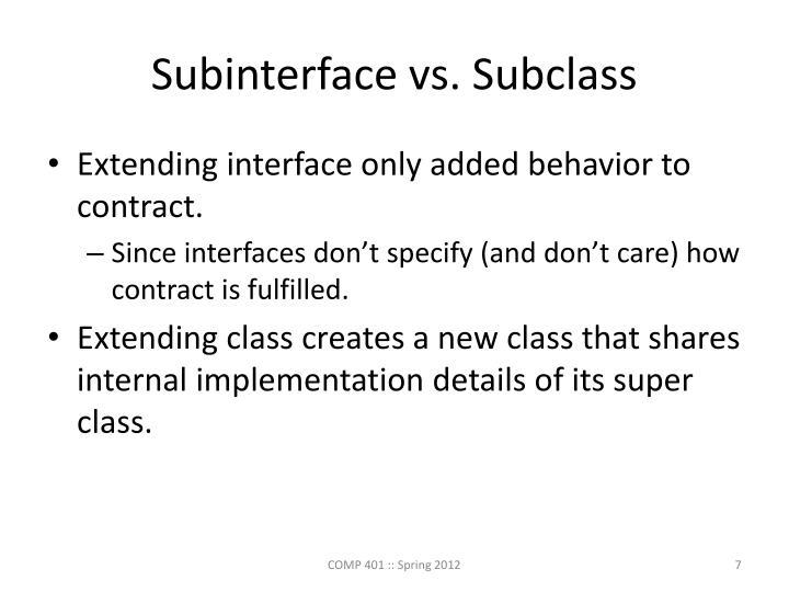 Subinterface