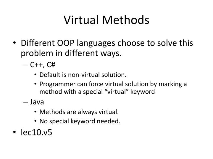 Virtual Methods
