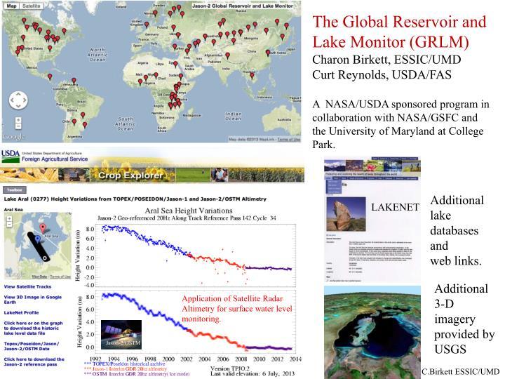 The Global Reservoir and Lake Monitor (GRLM)