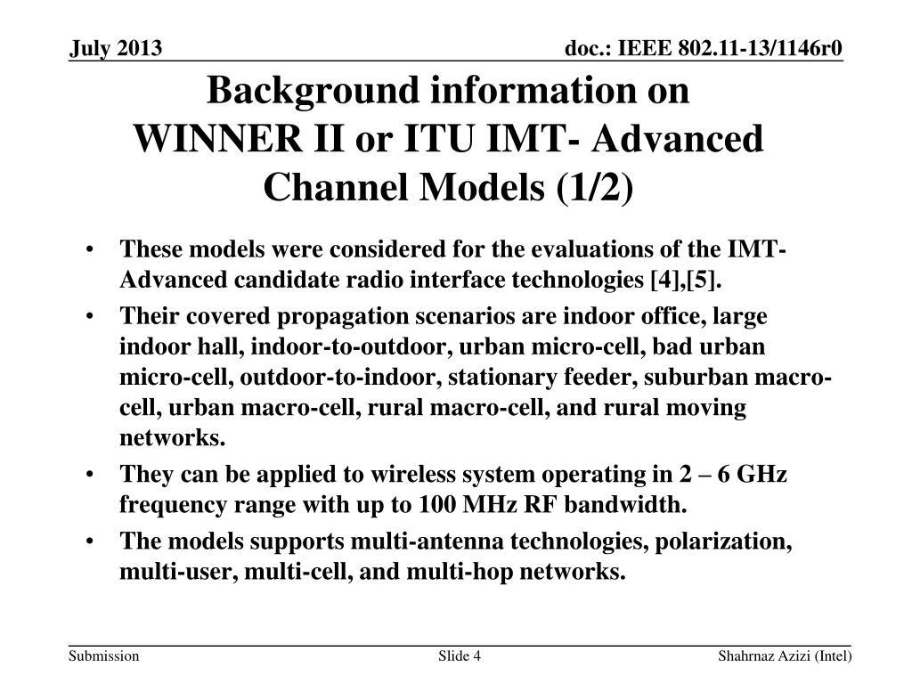 PPT - Update on HEW Channel Model PowerPoint Presentation
