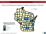 places of initial wisconsin settlement of refugees to wisconsin 1975 2010