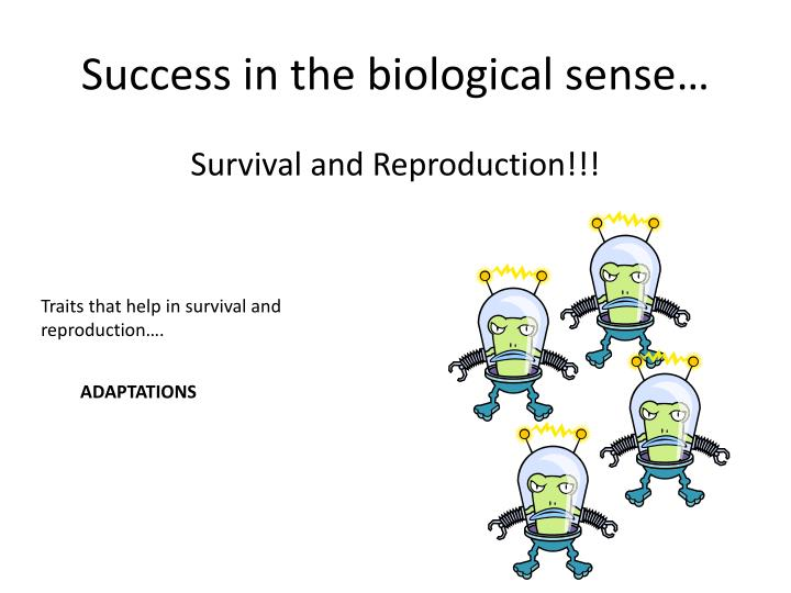 Success in the biological sense