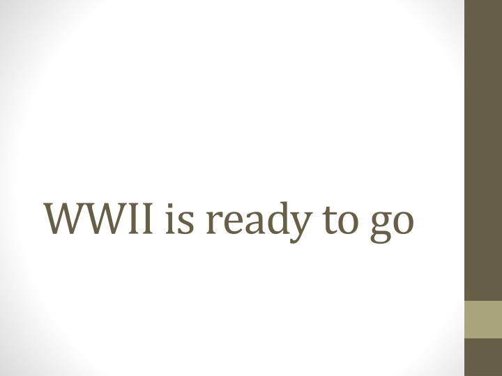 WWII is ready to go