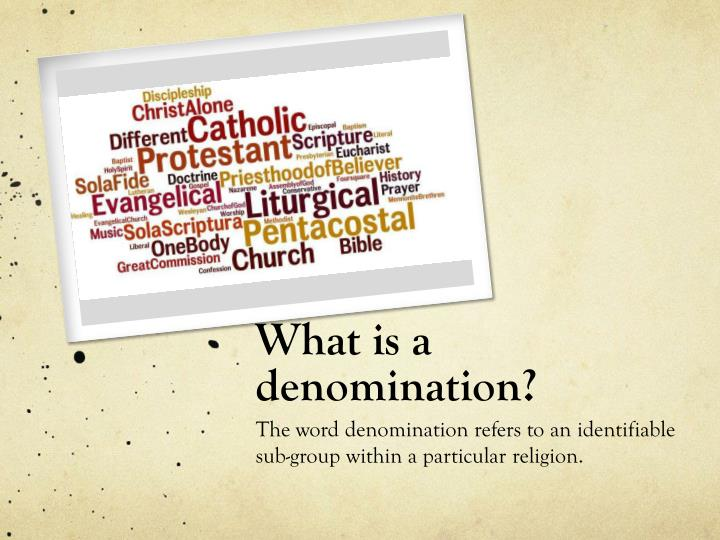 What is a denomination
