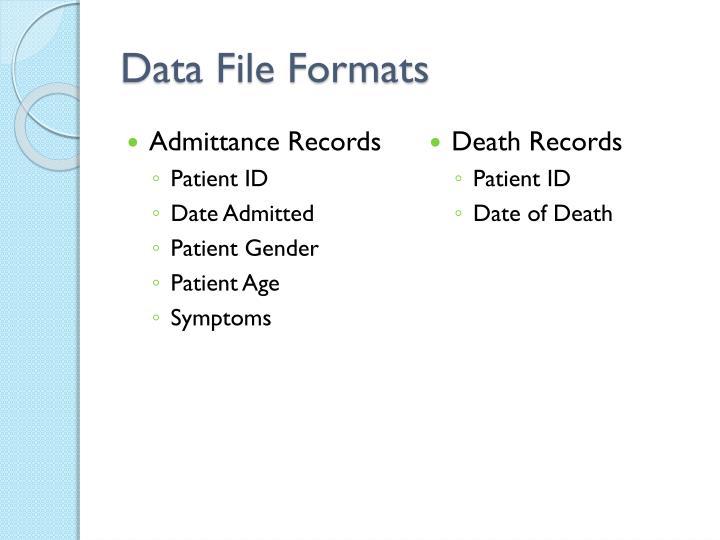 Data file formats