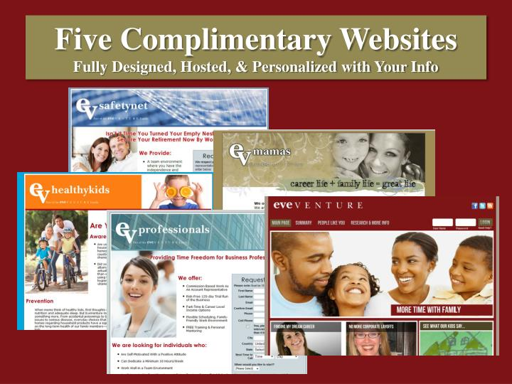 Five Complimentary Websites