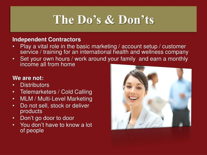 The Do's & Don'ts