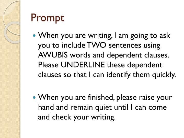 AAAWWUBBIS Sentences - PowerPoint PPT Presentation