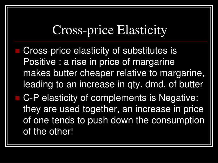 Cross-price Elasticity