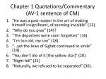 chapter 1 quotations commentary av 1 sentence of cm