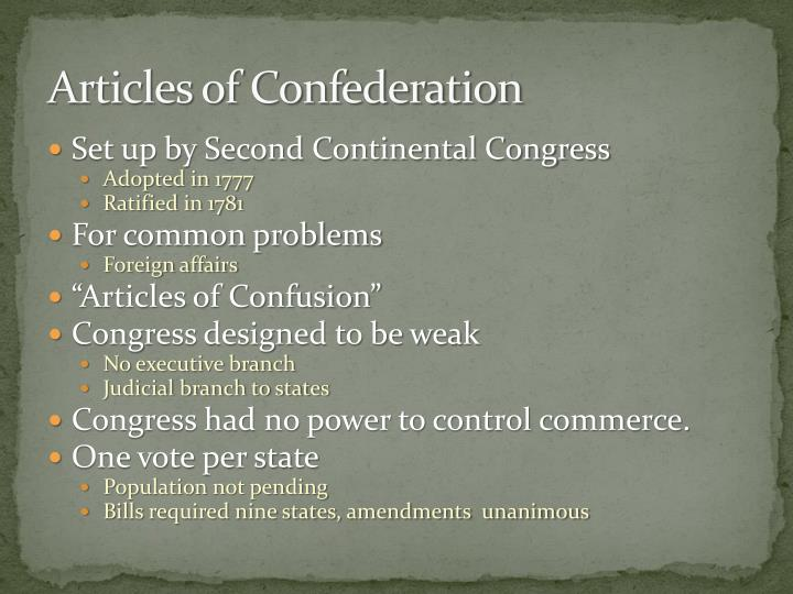 a critical analysis of the various flaws of the articles of confederation What was the success of the articles of confederation because of this, one of the best ways to identify the problems with the aoc is to review the changes which sought to correct those problems.