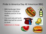 pride in america day all american bbq