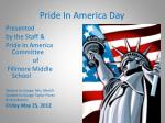 pride in america day