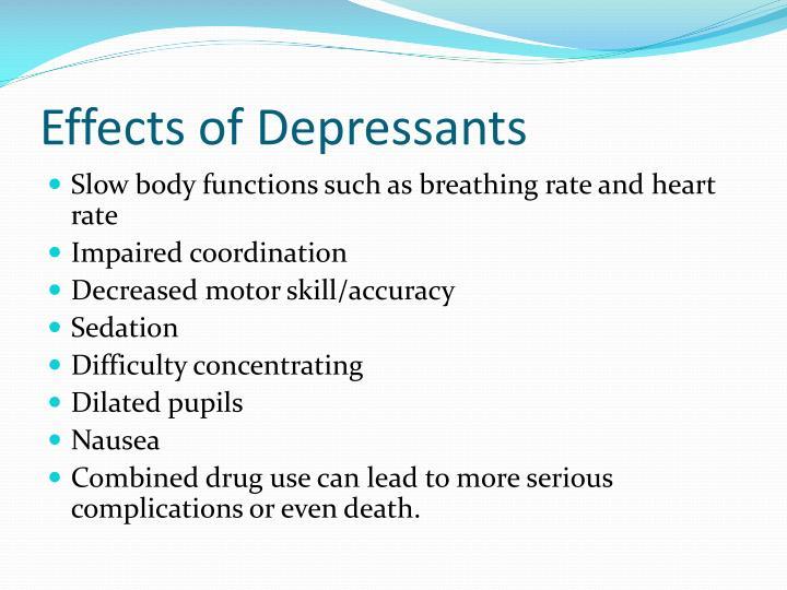 ppt stimulants and depressants powerpoint presentation id 2862319effects of depressants