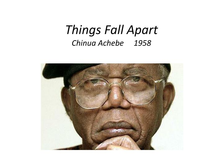 missionaries are to blame in chinua achebes Things fall apart by chinua achebe a true classic of world literature, this novel paints a picture of traditional society wrestling with the arrival of foreign influence, from christian missionaries to british colonialism.