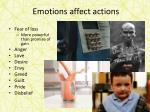emotions affect actions