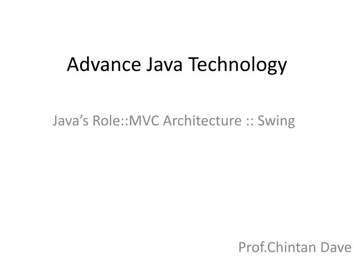 advance java technology n.