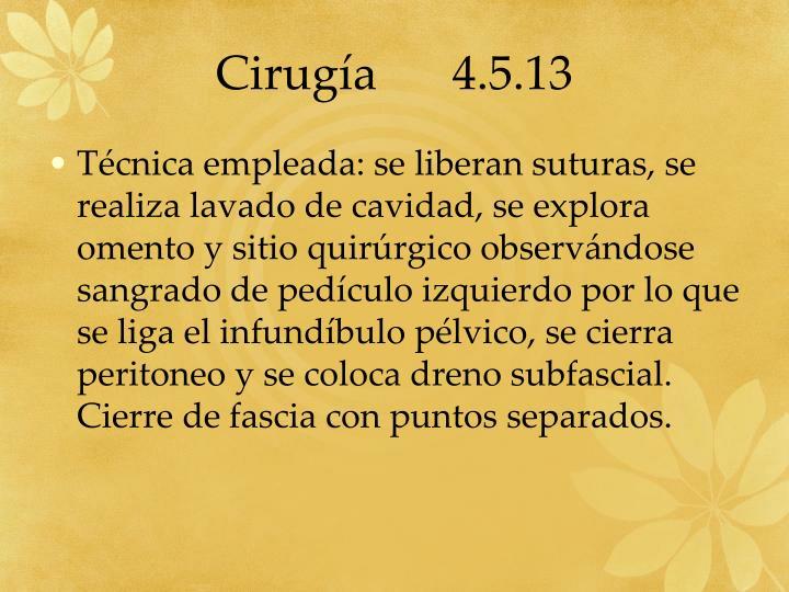 Cirugía 4.5.13