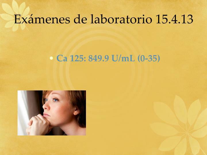 Exámenes de laboratorio 15.4.13
