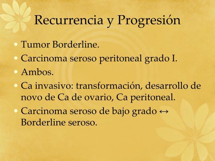 Recurrencia y Progresión