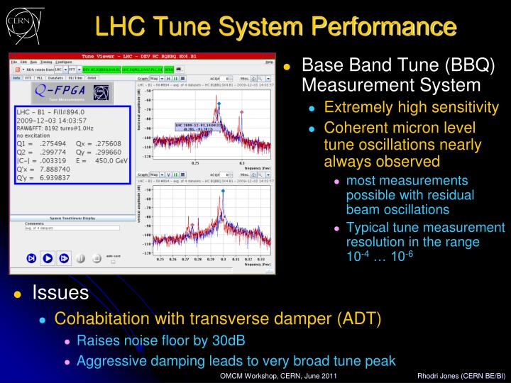 LHC Tune System Performance