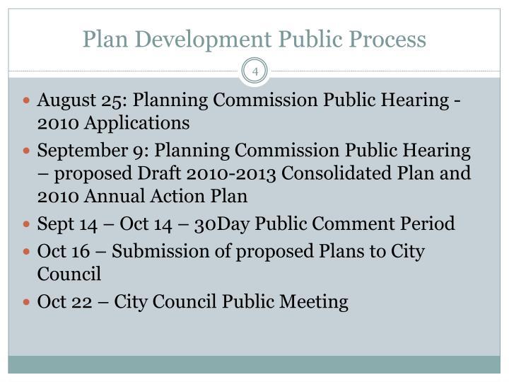 Plan Development Public Process