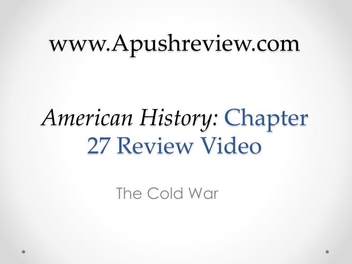 american history chapter 27 review video n.