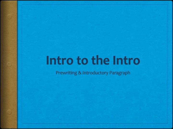 intro to the intro n.