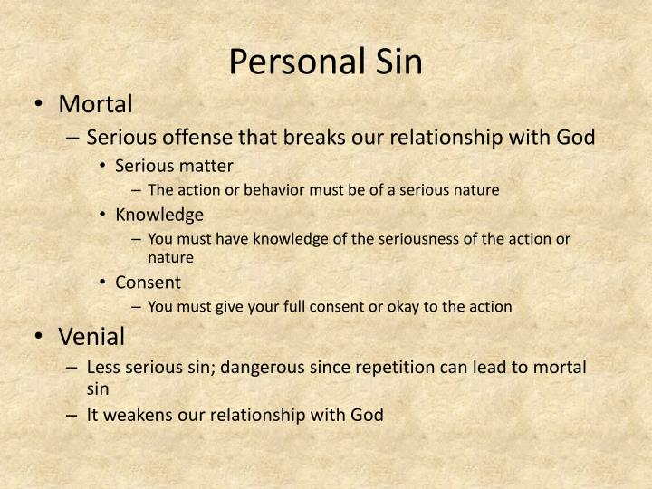 Personal Sin