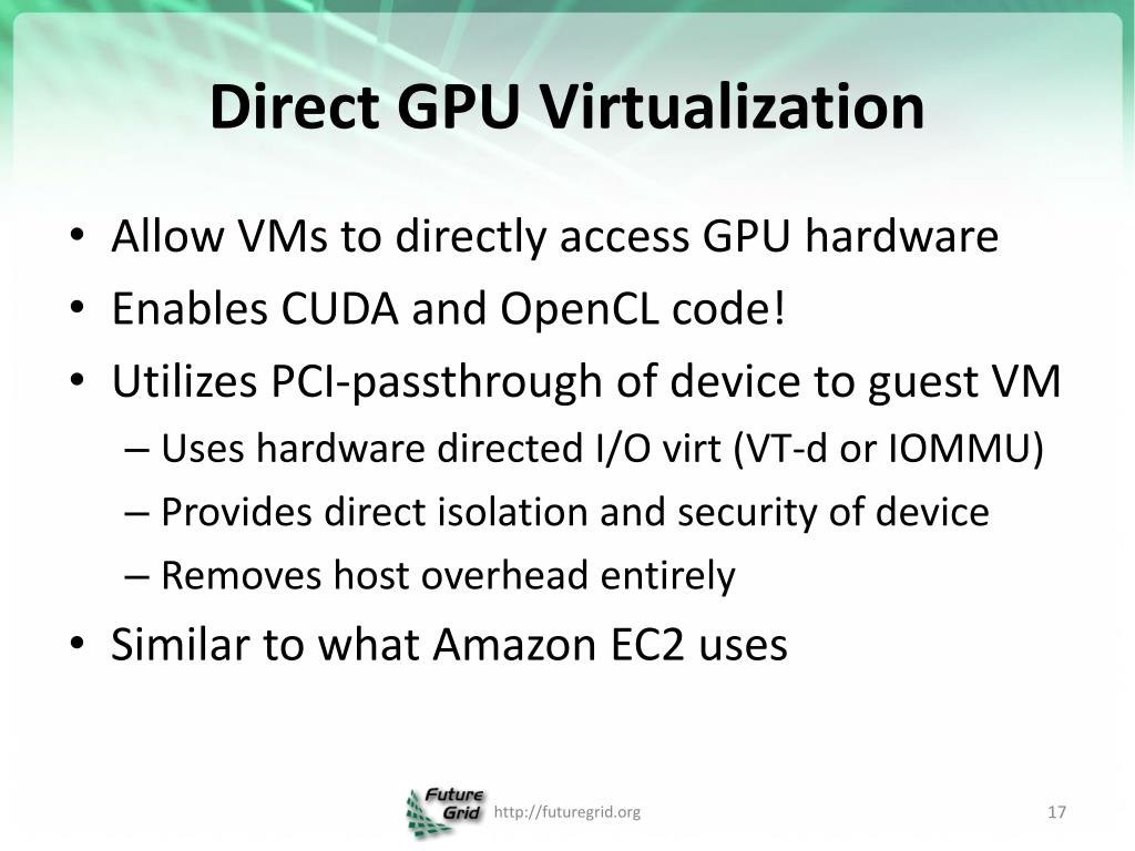 PPT - GPUs on Clouds PowerPoint Presentation - ID:2864421