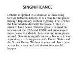 singnificance