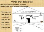 verbs that take tre