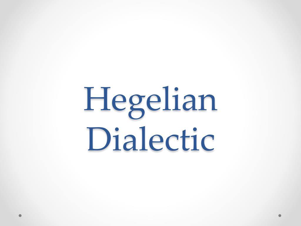 hegelian dialectic process