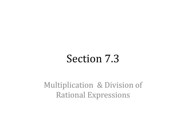 section 7 3 n.