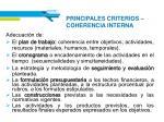 principales criterios coherencia interna