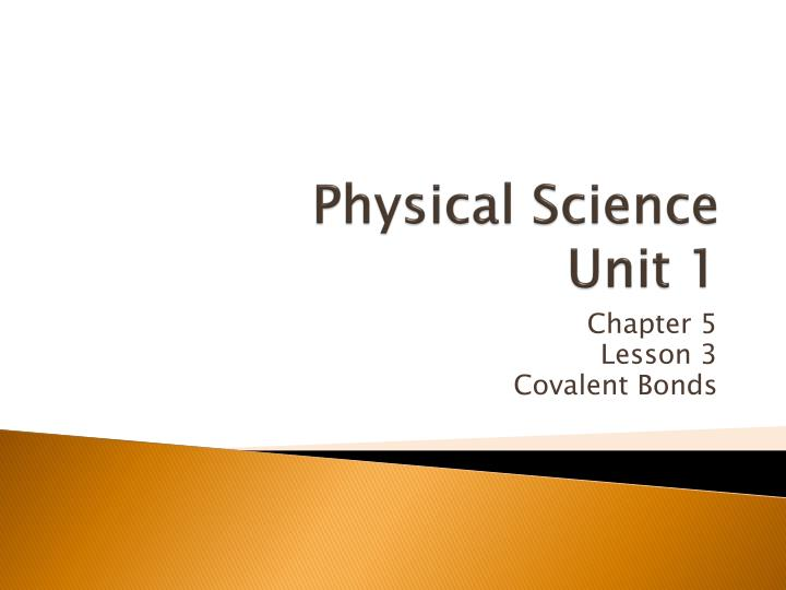 physical science unit 1 n.