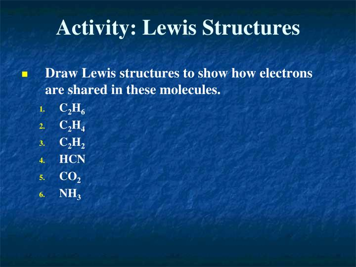 Activity: Lewis Structures