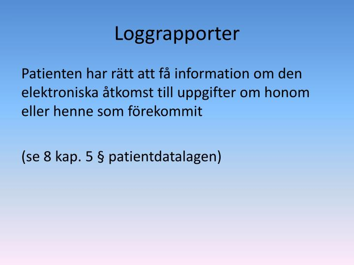 Loggrapporter