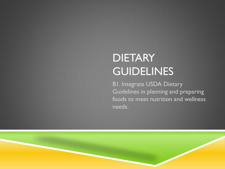 dietary guidelines for americans ppt