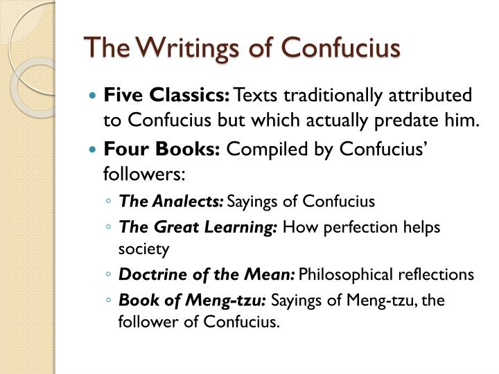 an analysis of the great learning a chinese confucian text The four books: the basic teachings  the basic teachings of the later confucian  daniel gardner explains the way in which the four books— great learning,.