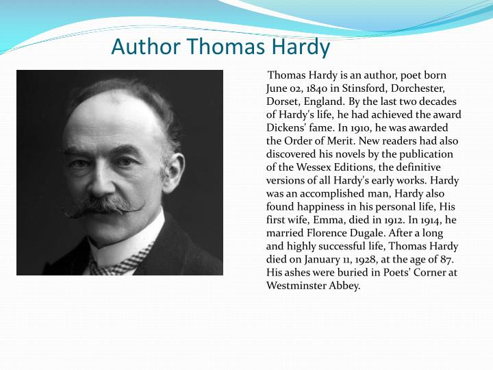 a comparison of the novel ah are you digging on my grave by thomas hardy and when i have fears by jo