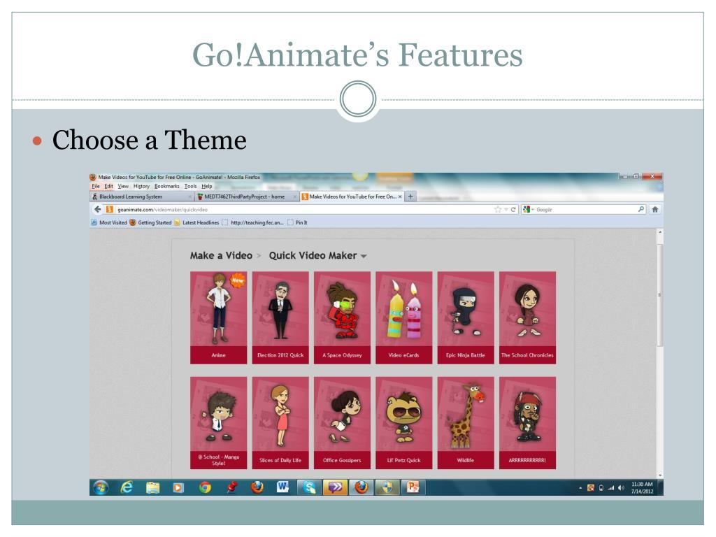 PPT - Go!Animate PowerPoint Presentation - ID:2865844
