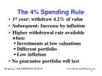 the 4 spending rule