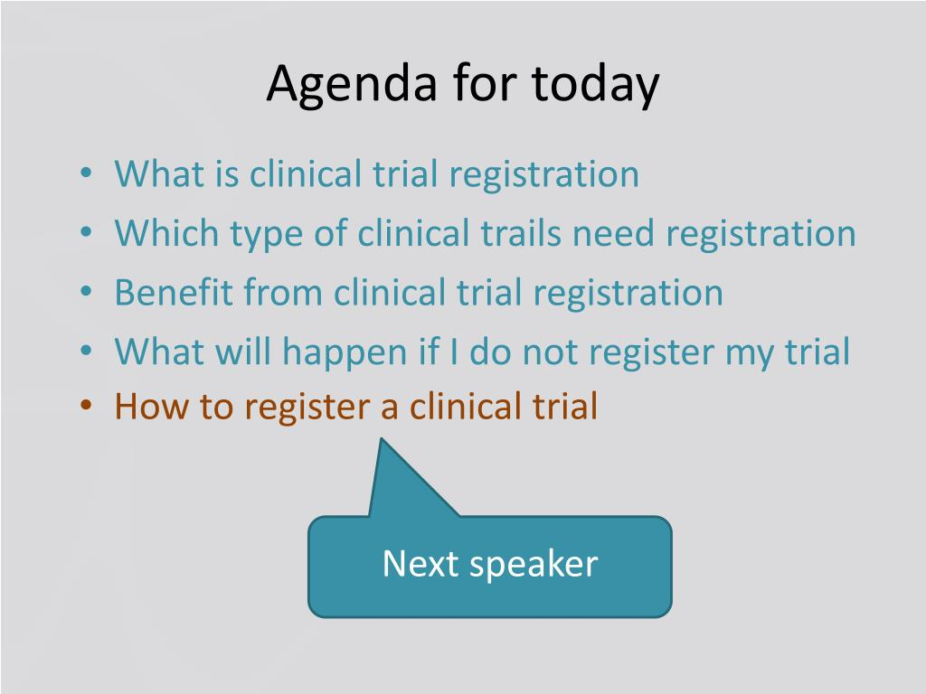 PPT - Clinical Trial Registration PowerPoint Presentation - ID:2866341