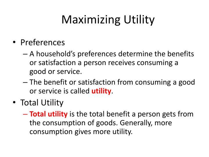 maximizing utility the price of everything