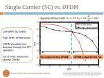 single carrier sc vs ofdm