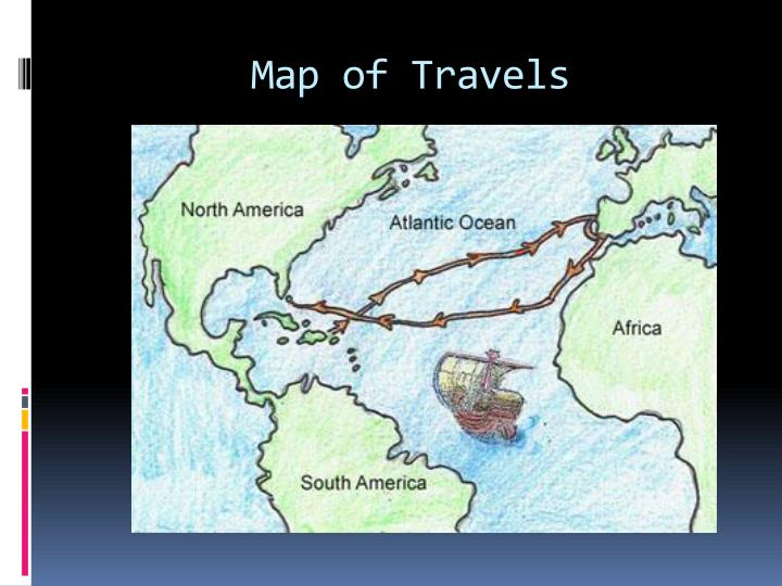 Map of travels