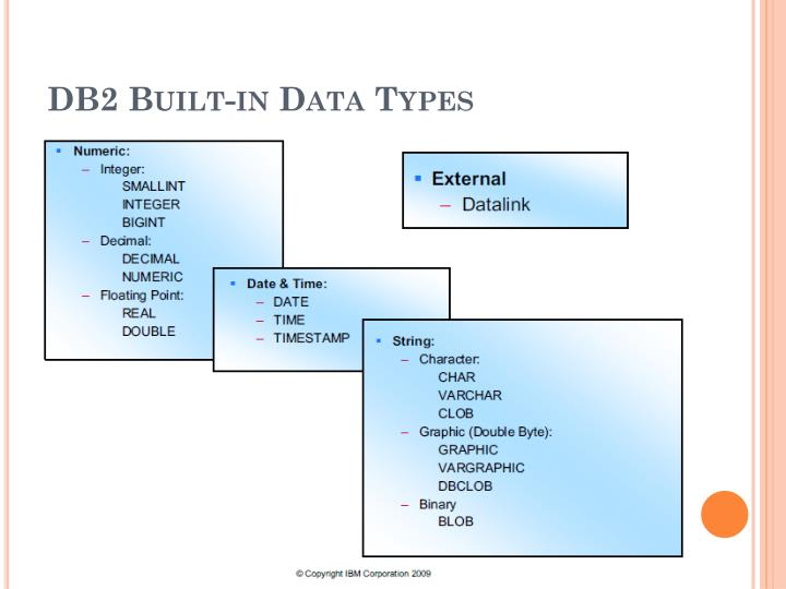 Db2 built in data types
