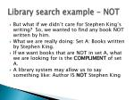 library search example not